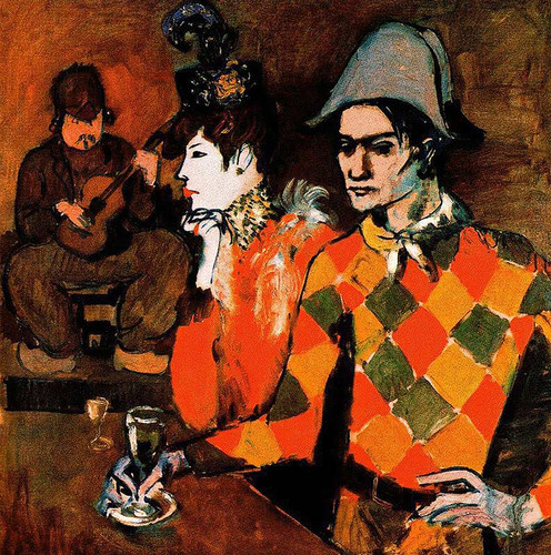 At Lapin Agile Harlequin With Glass 1905 By Pablo Picasso Art Reproduction from Wanford.