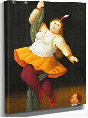 Circus Act Aka On The Rope By Fernando Botero