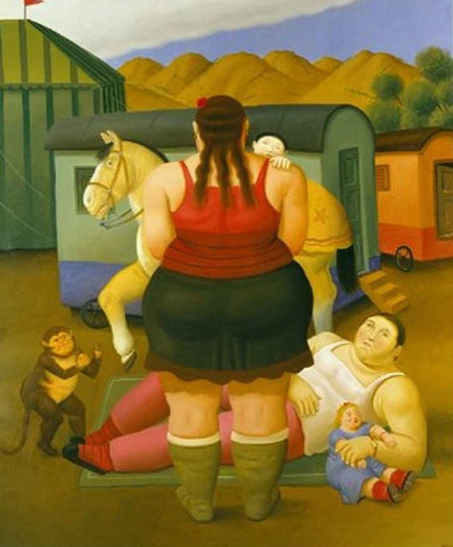 Circus Family By Fernando Botero Art Reproduction from Wanford