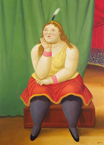 Circus Girl Seated By Fernando Botero Art Reproduction from Wanford