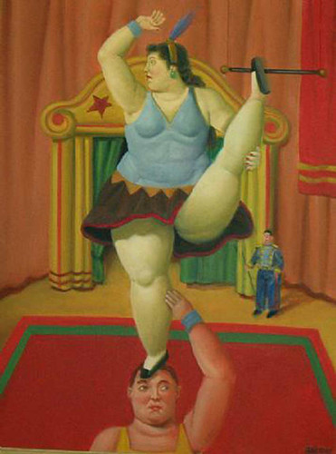 Circus Girl By Fernando Botero Art Reproduction from Wanford