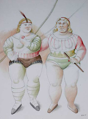 Circus People Aka Gente Del Circo3 By Fernando Botero Art Reproduction from Wanford