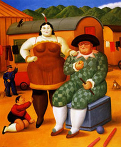 Circus People Aka Gente Del Circo By Fernando Botero Art Reproduction from Wanford
