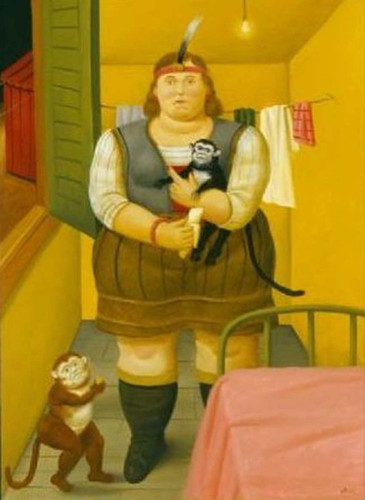Circus Woman In Her Trailer By Fernando Botero Art Reproduction from Wanford