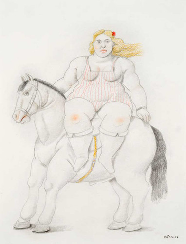 Circus Woman On A Horse Aka Femme Montant En Amazone By Fernando Botero Art Reproduction from Wanford