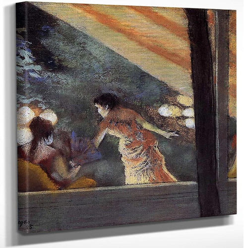 At The Cafe Des Ambassadeurs 1885 By Edgar Degas Art Reproduction from Wanford.