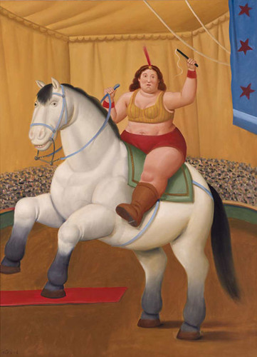 Circus Woman On A Horse2 By Fernando Botero Art Reproduction from Wanford