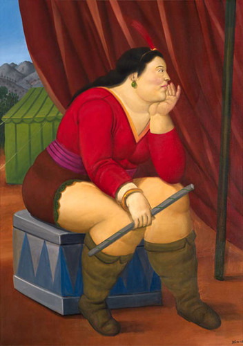 Circus Woman5 By Fernando Botero Art Reproduction from Wanford