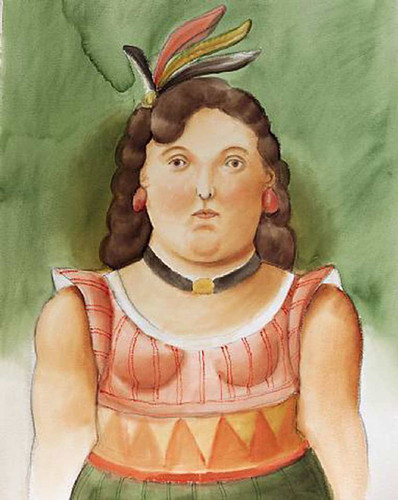 Circus Woman By Fernando Botero Art Reproduction from Wanford