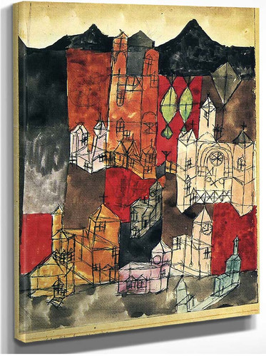 City Of Churches 1918 By Paul Klee