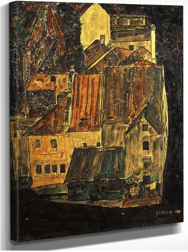 City On The Blue River 1910 By Egon Schiele