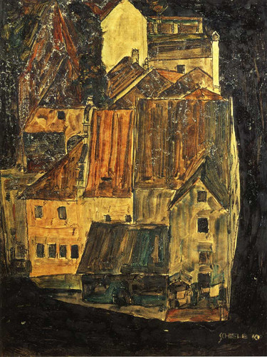 City On The Blue River 1910 By Egon Schiele Art Reproduction from Wanford