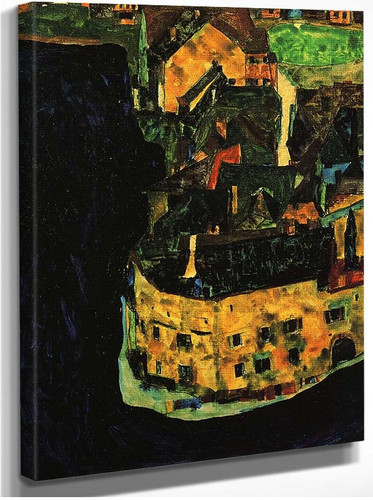 City On The Blue River 1911 By Egon Schiele