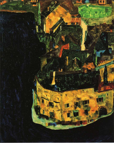 City On The Blue River 1911 By Egon Schiele Art Reproduction from Wanford