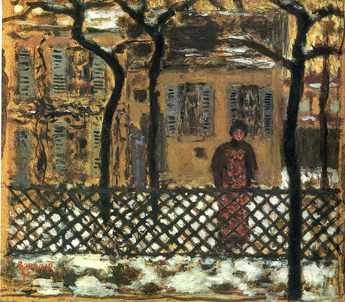 At The Fence 1895 By Pierre Bonnard Art Reproduction from Wanford.