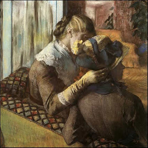 At The Milliner S 1883 1 By Edgar Degas Art Reproduction from Wanford.