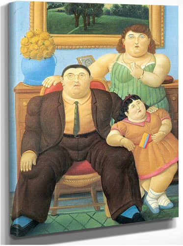 Colombian Family By Fernando Botero