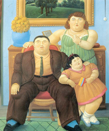 Colombian Family By Fernando Botero Art Reproduction from Wanford