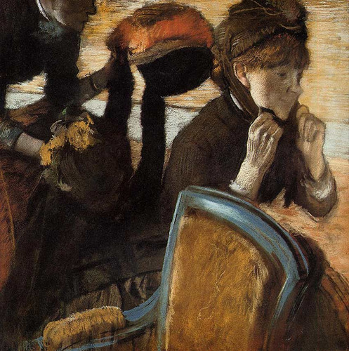 At The Milliner S By Edgar Degas Art Reproduction from Wanford.