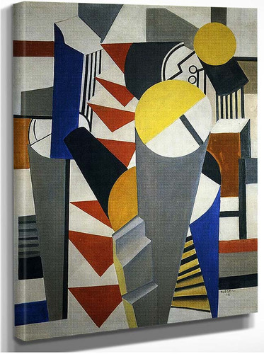 Composition 1918 By Fernand Leger