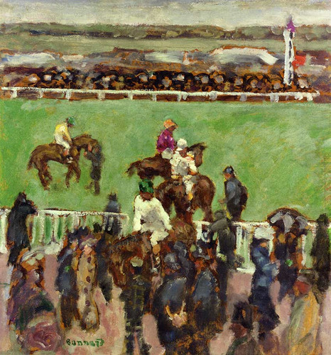At The Races Longchamp 1894 By Pierre Bonnard Art Reproduction from Wanford.