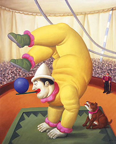 Contortionist3 By Fernando Botero Art Reproduction from Wanford