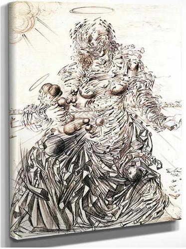 Corpuscular Madonna By Salvador Dali