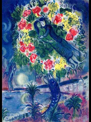 Couple And Fish 1964 By Marc Chagall Art Reproduction from Wanford
