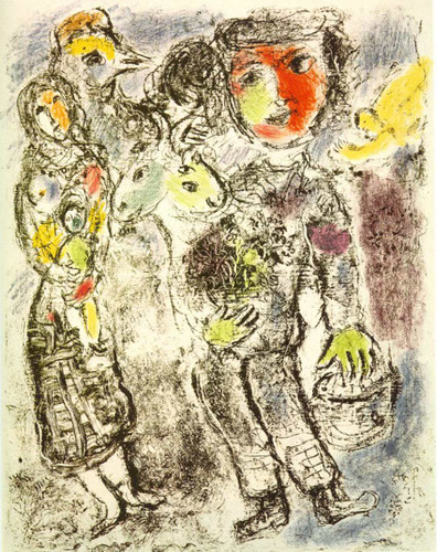 Couple Of Peasants 1967 By Marc Chagall Art Reproduction from Wanford