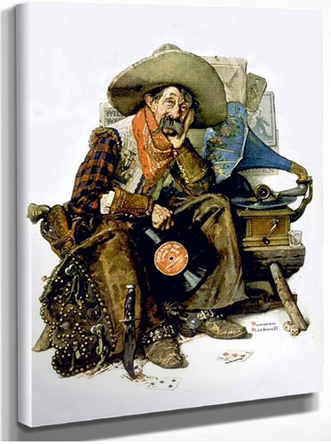 Cowboy By Norman Rockwell