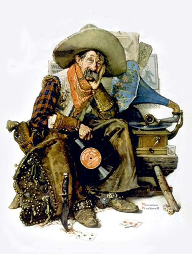 Cowboy By Norman Rockwell Art Reproduction from Wanford