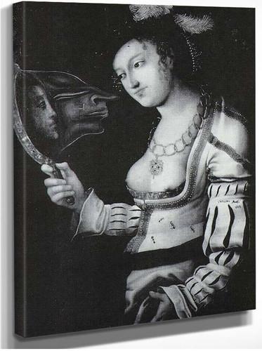 Cranach Metamorphosis Woman In A Mirror By Salvador Dali