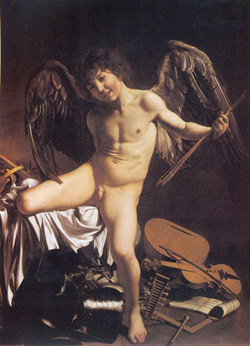 Cupid By Caravaggio Art Reproduction from Wanford