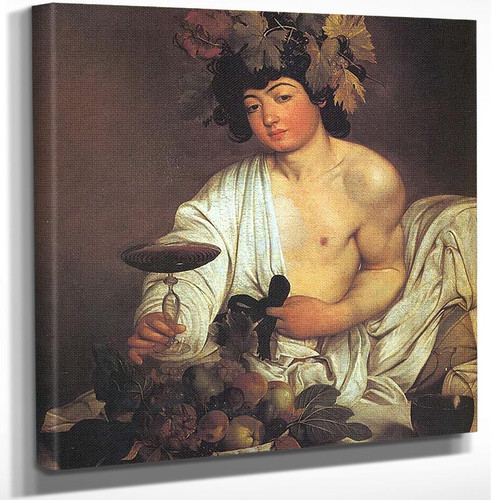 Bacchus by Caravaggio Art Reproduction from Wanford.