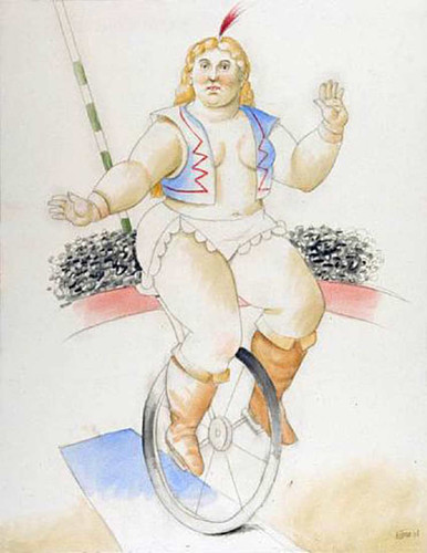 Cyclista By Fernando Botero Art Reproduction from Wanford