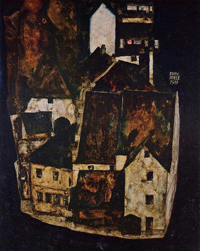 Dead City City On The Blue River 1911 By Egon Schiele Art Reproduction from Wanford