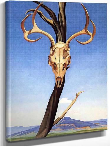 Deers Skull With Pedernal By Georgia O Keeffe
