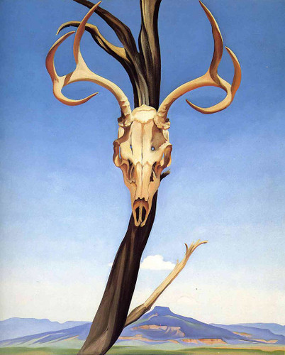 Deers Skull With Pedernal By Georgia O Keeffe Art Reproduction from Wanford