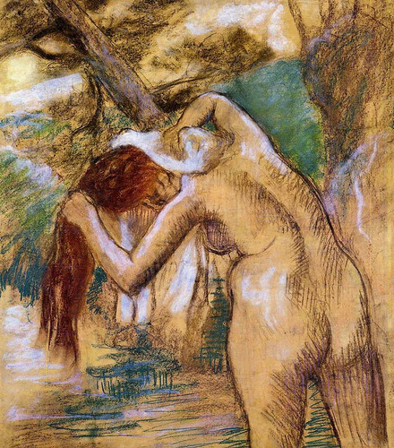Bather By The Water By Edgar Degas Art Reproduction from Wanford.