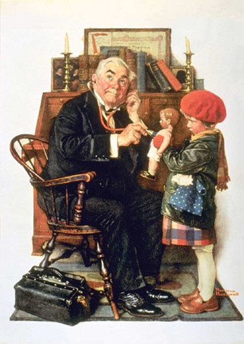 Doctor And Doll By Norman Rockwell Art Reproduction from Wanford