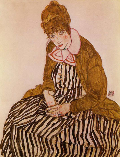 Edith Schiele Seated 1915 By Egon Schiele Art Reproduction from Wanford