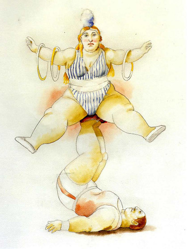 Equilibrists By Fernando Botero Art Reproduction from Wanford