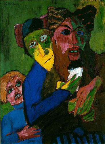 Excited People By Emil Nolde Art Reproduction from Wanford