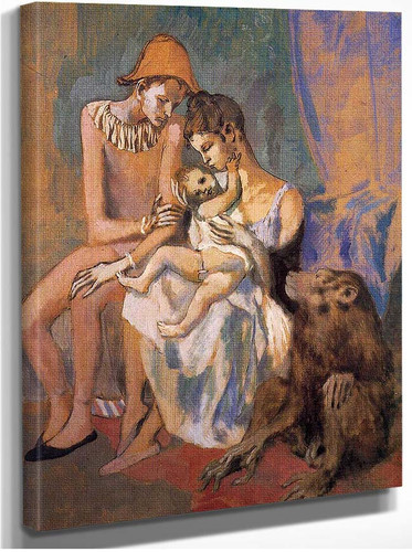 Family Of Acrobats With Monkey 1905 By Pablo Picasso