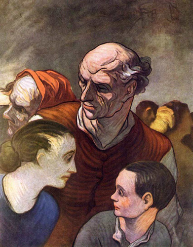 Family On The Barricades In 1848 By Daumier Honore Art Reproduction from Wanford