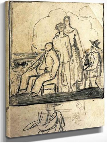 Family Portrait By Salvador Dali