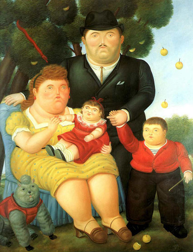 Family By Fernando Botero Art Reproduction from Wanford