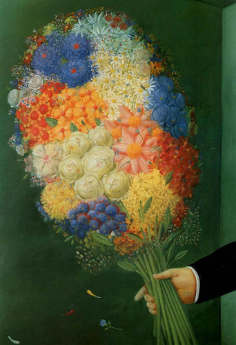 Flowers Aka Flores3 By Fernando Botero Art Reproduction from Wanford