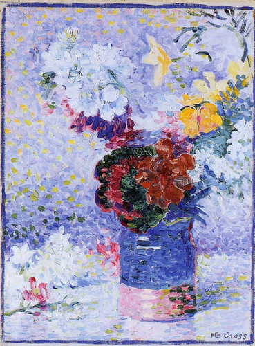Flowers In A Glass By Henri Edmond Cross Art Reproduction from Wanford