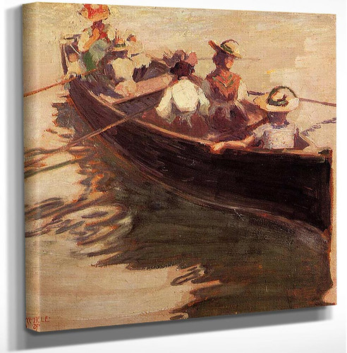 Boating 1907 By Egon Schiele Art Reproduction from Wanford.